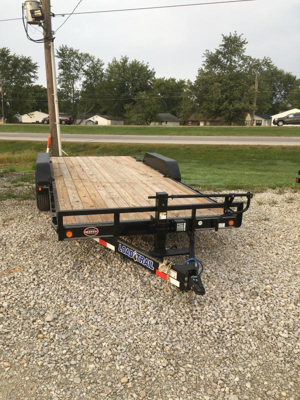 2021 Load Trail CH8318072 - Car/Racing Trailer - 83x18 (16+2) TA - Straight Deck - DP Fenders - D-Rings - Slide In Ramps (GVW;  14000)
