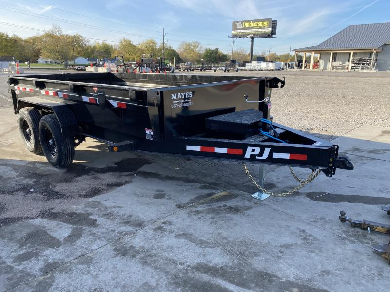 2021 PJ Trailers DG142 Dump Trailer - 83x14 TA Low Pro Dump - Split Gate - NO TARP - RAMPS (GVW:  14000)