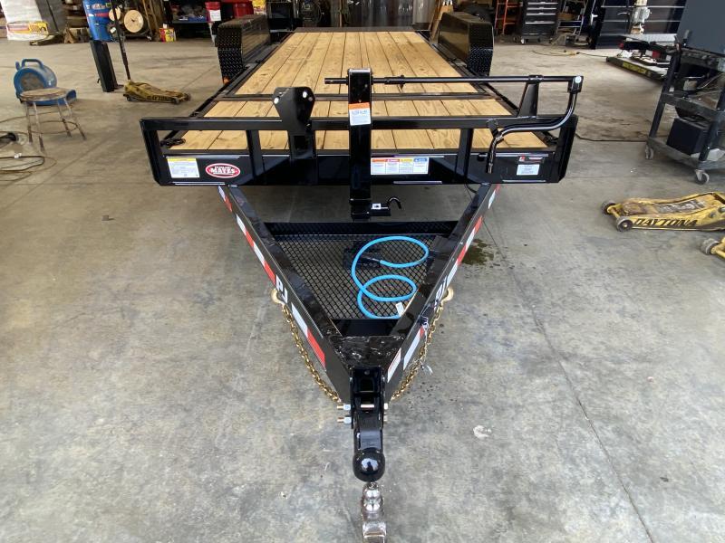 2022 PJ Trailers 1C252 Equipment Trailer - 83x20 (4+16) TA Tilt - Torsion Axles - Treated Wood Floor (GVW:  14000)
