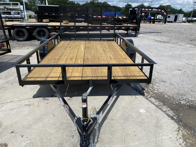 """2021 American Manufacturing Operations (AMO) US121 Utility Trailer - 82x12 SAUT Extra Wide - Tailgate - 15"""" Tires and Wheels (GVW:  2990)"""