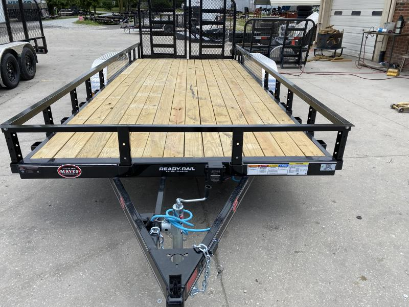 2021 PJ Trailers 83x18 (16+2)Tndm Axle Channel Utility Trailer - w/ 4' Split Heavy Duty Gate (GVW: 7000)