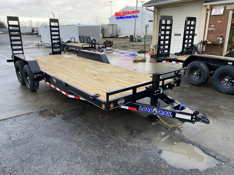 2021 Load Trail XH8320072 Car / Racing Trailer - 83x20 (18+2) TA - 6 Inch Channel - Fold Up Ramps - D-Rings (GVW:  14000)