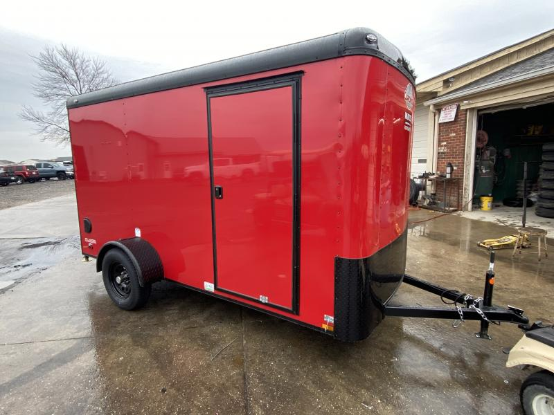 2021 Cargo Mate BL612SA Enclosed Cargo Trailer  - 6x12 SA - Torsion Axle - Ramp Door - Black Out Package - 6 Inch Additional Height (GVW:  2990)