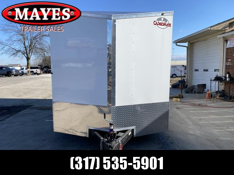 2021 Cargo Mate EHW716TA2 Enclosed Cargo Trailer - 7.5x16 TA - Double Door - Side by Side Package - 12 Inch Additional Height - D-Rings (GVW:  7000)