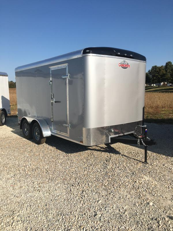 2021 Cargo Mate BL714TA2 Enclosed Cargo Trailer - 7x14 TA - Double Door with Dual Cambars - Torsion Axles - Aluminum Roof (GVW:  7000)