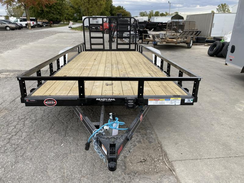 2021 PJ Trailers UL182 Utility Trailer - 83x18 (16+2) TAUT - Dovetail - Split Heavy Duty Gate (GVW:  7000)