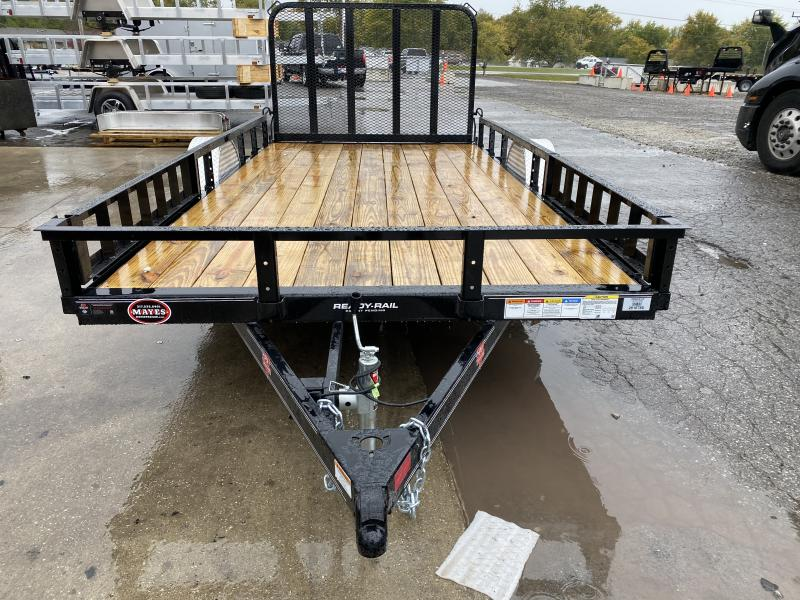 2021 PJ Trailers U8141 Utility Trailer - 83x14 SAUT - Straight Deck - Fold In Gate - ATV Ramps (GVW:  2995)
