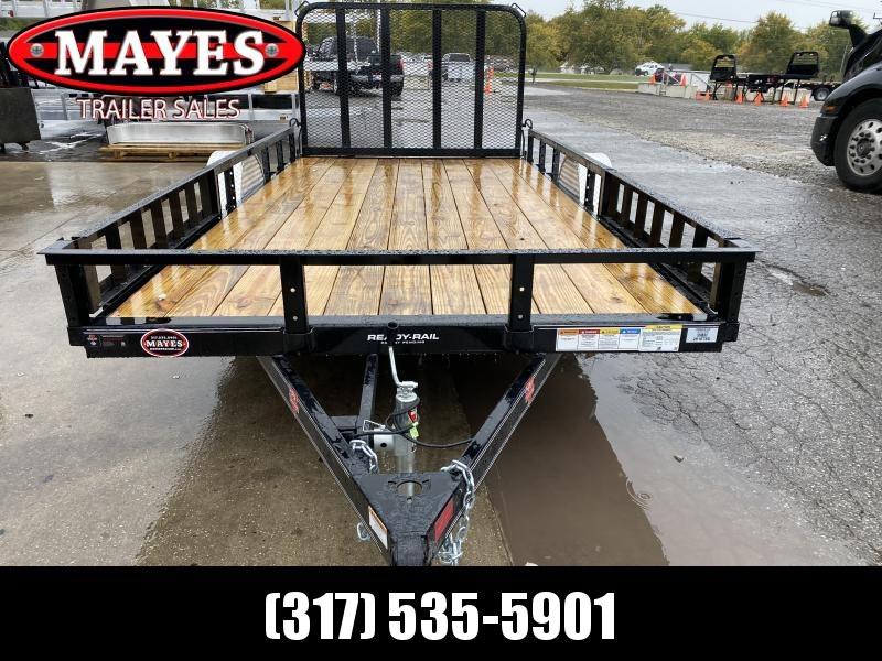 2021 PJ Trailers U8141 Utility Trailer - 83x14 SAUT - Straight Deck - Fold In Gate - ATV Ramps (GVW:  2995)