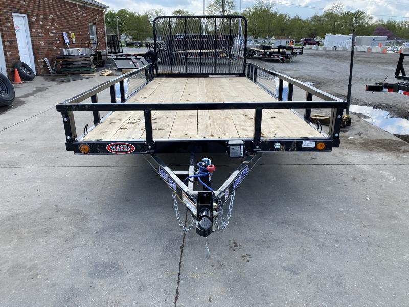 2021 Load Trail XT8316032 Utility Trailer - 83x16 TA - 4 Inch Channel - 4 Foot Fold In Gate - U-Hooks - Straight Deck (GVW:  7000)
