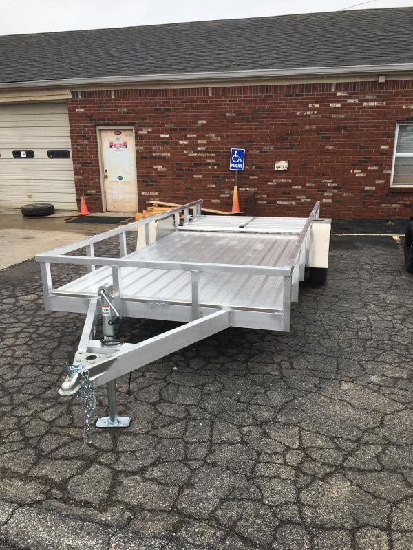 2021 Sport Trail OUA614 Utility Trailer - 6x14 SAUT - Alum. Floor - Rear Ramp Gate w/Dual Locking Positions - Rear Gate Lays Flat (GVW:  2990)