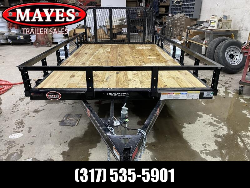 2021 PJ Trailers U7121 Utility Trailer - 77x12 (10+2) SA - Dovetail - 3 Foot Fold Up Gate (GVW:  2995)