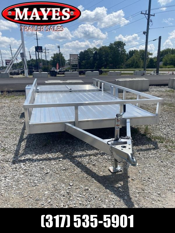 2021 Sport Trailers OUA714 Utility Trailer - 6X14 SA - Alum. Floor - Spring Suspension - 2 Inch Coupler - Rear Ramp Gate with Dual Locking Positions (GVW:  2990)