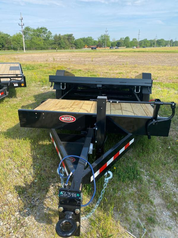 2021 B-B TBCT2016ET Equipment Trailer - 83X20 (4+16) TA Tilt - Torflex Axles - Pallet Fork Holders - Pintle Hitch - 12 Inch O/C Crossmembers (GVW:  16000)