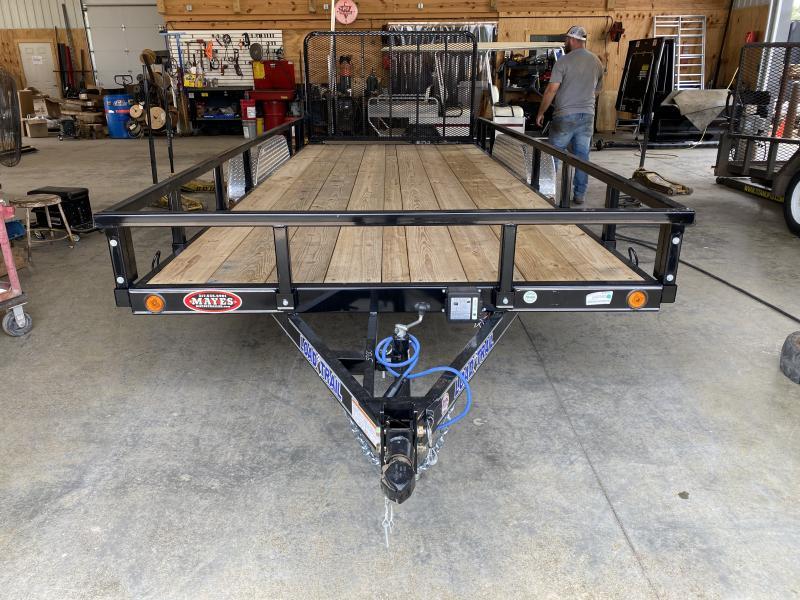 2021 Load Trail XH8318032 Utility Trailer- 83x18 TA - Straight Deck - Fold In Gate - U-Hooks - DP Alum. Fenders (GVW:  7000)