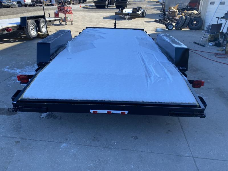 2021 American Manufacturing Operations (AMO) UT162 Utility Trailer - 82x16 (14+2) TAUT - Treated Wood Floor - Slide In Rear Ramps (GVW:  7000)