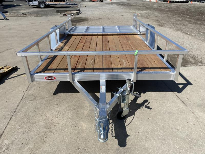 2021 Sport Haven AUT712 Utility Trailer - 7X12 SA Aluminum - Treated Wood Floor - Tailgate (GVW:  2990)