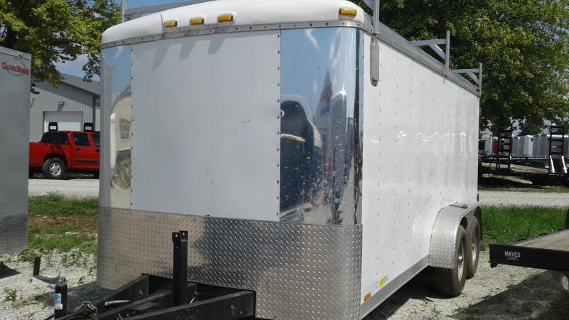 2009 7x16 TA Cargo Mate UNKNOWN Enclosed Cargo Trailer - Double Door  - Ladder Racks (GVW:  9800)
