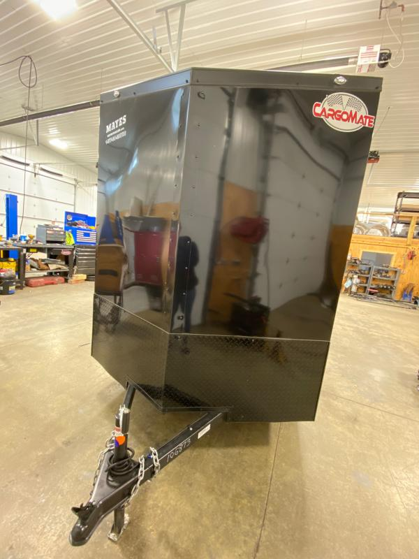 2021 Cargo Mate EHW612SA Enclosed Cargo Trailer - 6.5x12 SA - 12 Inch Additional Height - Side by Side Package - Black Out Package - Slant V-Nose - 6.5 Wide Body Design (GVW:  2990)
