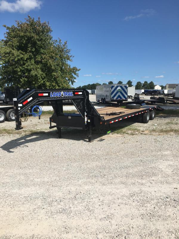 "2021 Load Trail 102""x32' Tandem Low Pro Gooseneck - 102""x32' (27+5) TA - 5' Self Clean Dovetail - Tool Box - Max Steps - Standard Frame (GVW:  25900)"