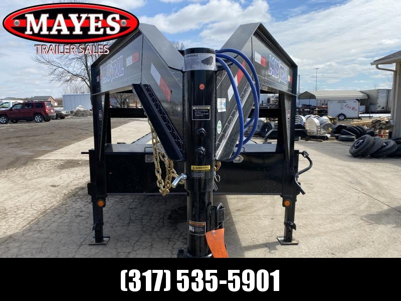 2021 Load Trail GC0236073B10 Equipment Trailer - 102x36 (32+4) Triple Axle Gooseneck - Drive Over Fenders - Slide In Ramps - Tool Box - Winch Plate (GVW:  21000)