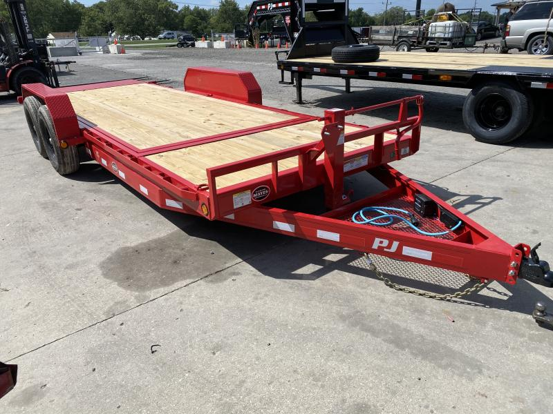2021 PJ Trailers T6202 Equipment Trailer - 74x20 (4+16) TA Tilt - 6 Inch Channel Frame - Torsion Axles (GVW:  14000)