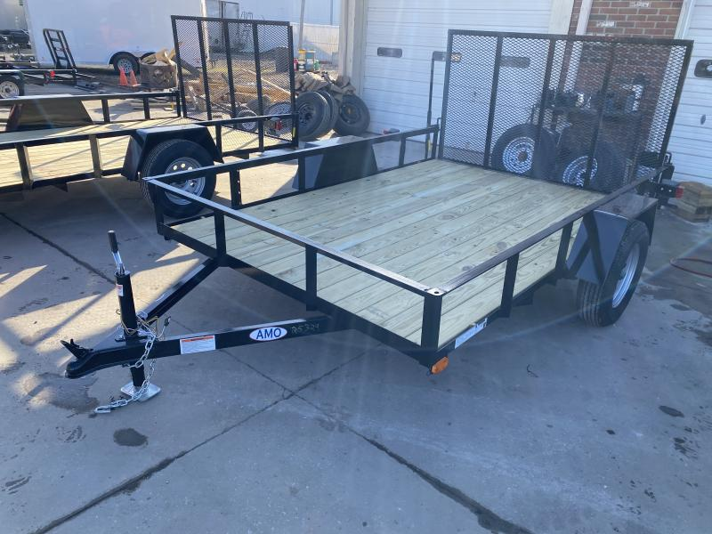 2021 American Manufacturing Operations (AMO) US101 Utility Trailer - 82x10 SAUT - Treated Wood Floor - Tailgate (GVW:  2990)