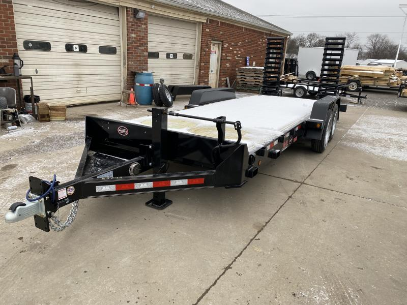 2021 B-B CBCT2016E-S Equipment Trailer - 83x20 (18+2) TA - 10 Inch Channel Frame - DP Dovetail - Pallet Fork Holder - D-Rings - Flip Up Ramps (GVW:  16000)