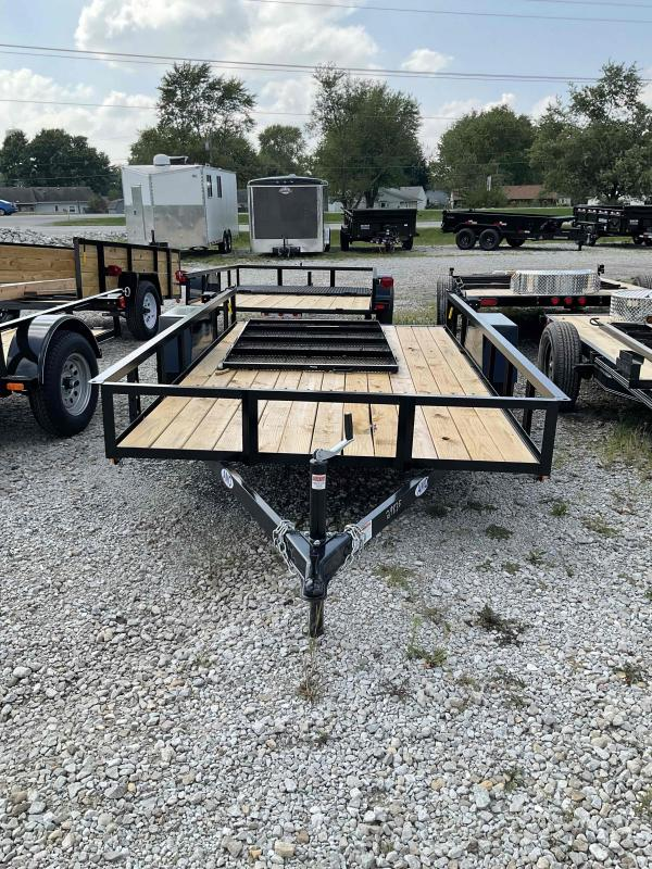 2021 American Manufacturing Operations (AMO) US121 Utility Trailer - 76x12 SA - Tailgate - 15 Inch Tires and Wheels (GVW:  2990)