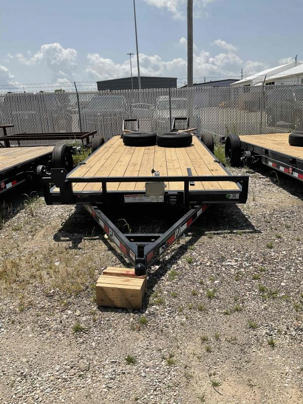 2022 PJ Trailers 1C252 (CE202) Equipment Trailer - 83X20 (18+2) TA - 5 Inch Channel Frame - Dovetail - Fold Up Ramps  (GVW:  9899)