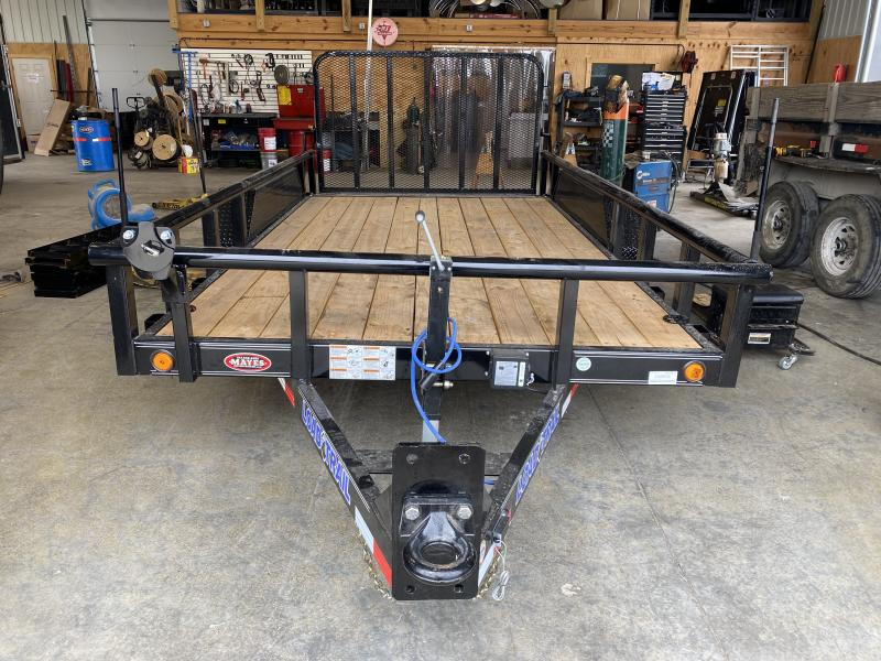 2021 Load Trail CS8314052 Car / Racing Trailer - 83x14 (12+2) TA - Pintle - Dovetail - HD Fold Gate - D-Rings - Pipe Top Side Rails - Spare Tire MOUNT ONLY (GVW:  9990)