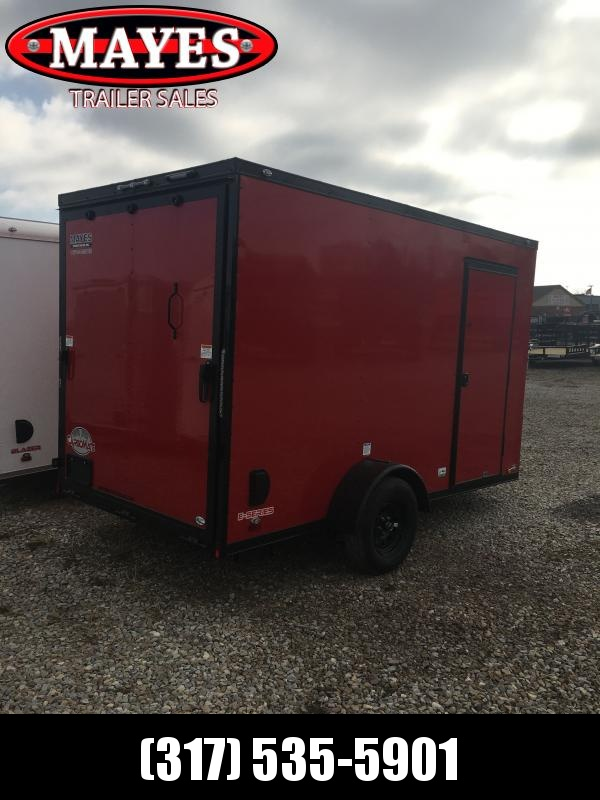 2021 Cargo Mate EHW612SA (6.5x12) Enclosed Cargo Trailer - 6x12 SA - Side by Side Package - Two Tone - Black Out Package - Ramp Door - 12 Inch Additional Height (GVW:  2990)