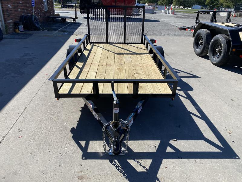 2021 American Manufacturing Operations (AMO) UL101 Utility Trailer - 60x10 SA - Tailgate - 2 Inch Coupler - 12 Inch Tires and Wheels (GVW: 2000)