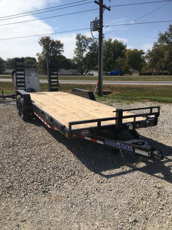2021 Load Trail XH8322072 Car / Racing Trailer - 83x22 (20+2) TA - Dovetail - DP Fenders - Fold Up Ramps - D-Rings (GVW:  14000)