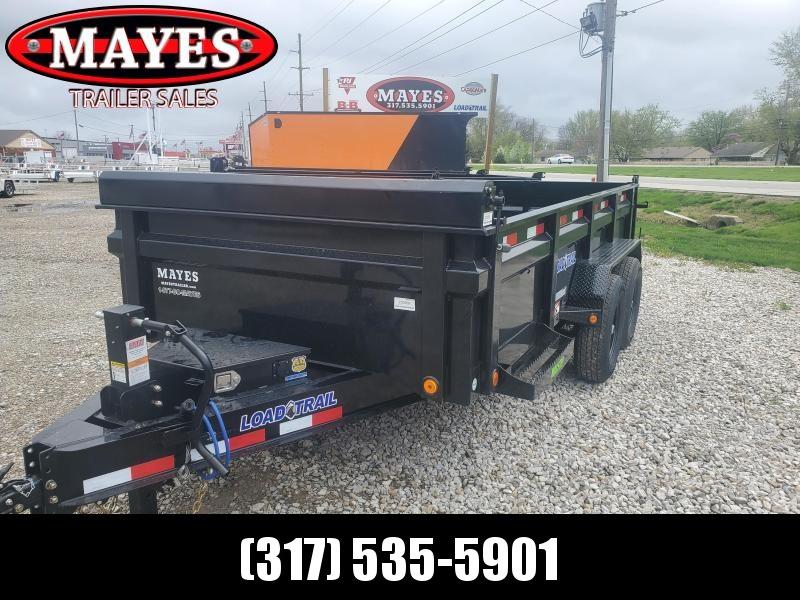 2021 Load Trail DT8314072 Dump Trailer - 83X14 TA - Scissor Hoist - Rear Slide In Ramps - 24 Inch Dump Sides - 2-Way Gate - Spare Tire MOUNT ONLY (GVW:  14000)
