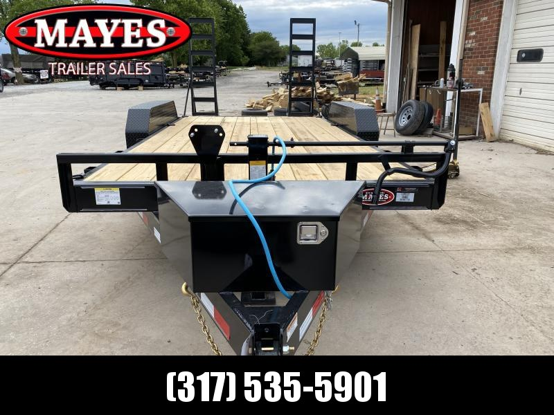 2022 PJ Trailers 1C212 (CC162) Equipment Trailer - 83x16 (14+2) TA - Dovetail - Fold Up Ramps - 6 Inch Channel Frame - Front Tool Box (GVW:  14000)