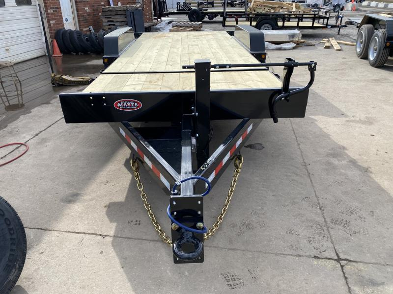 2021 B-B TBCT2020ET-10K Equipment Trailer - 83x20 (4+16) TA Tilt - Torsion Axles - Treated Wood Floor - Pallet Fork Holders - 12 Inch O/C Crossmembers - Fender Guides (GVW:  20000)