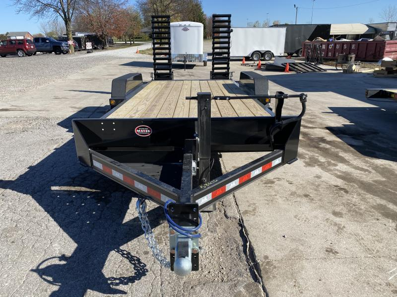 2021 B-B CBCT1816E-S Equipment Trailer - 18 Foot (16+2) TA - 10 Inch Channel Frame - Dovetail - Pallet Fork Holders - D-Rings - Flip Up Ramps (GVW:  16000)