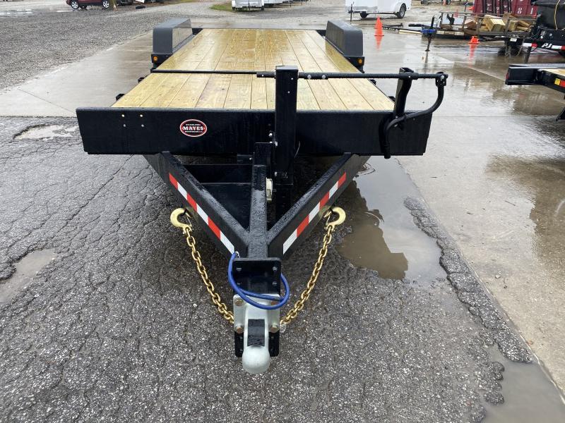 2021 B-B TBCT2220ET-10K Equipment Trailer - 83x22 (6+16) TA Partial Tilt - Torsion Axles - Pallet Fork Holders - Fender Guides (GVW:  20000)