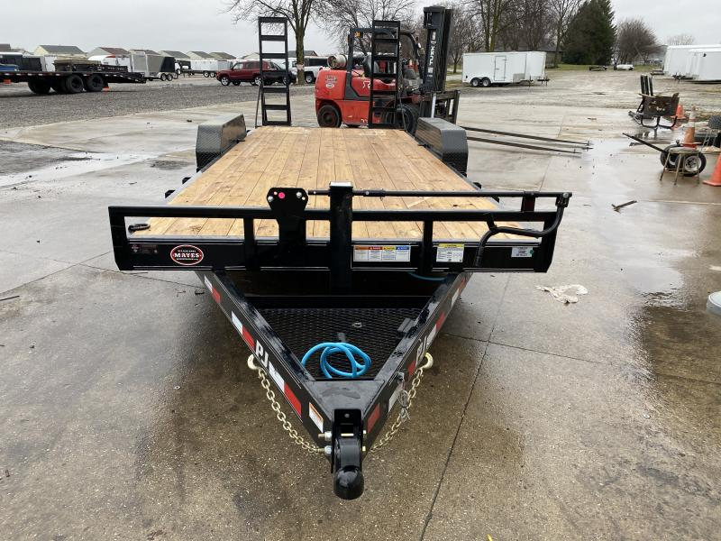 2021 PJ Trailers CC202 Equipment Trailer - 83x20 TA Equipment Trailer - Dovetail - Fold Up Ramps (GVW:  14000)
