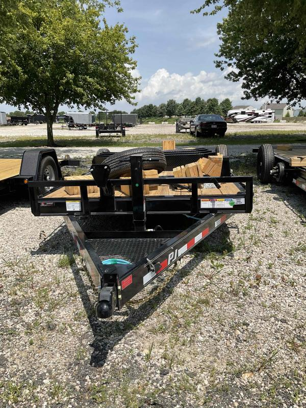 2022 PJ Trailers T6 Tilt Equipment Trailer - 82X20 (4+16) TA Tilt - Torsion Axles - 82 Inch Between Fenders (GVW:  14000)