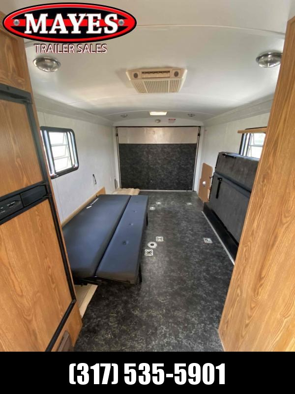 2003 Haulmark Unknown Enclosed Cargo Trailer - Toy Hauler - Drop Down Beds - New Awning - Refer - Roof Mount A/C - Furnace - Closet - Bathroom - Stove - D-Rings - Microwave (GVW:  9800)