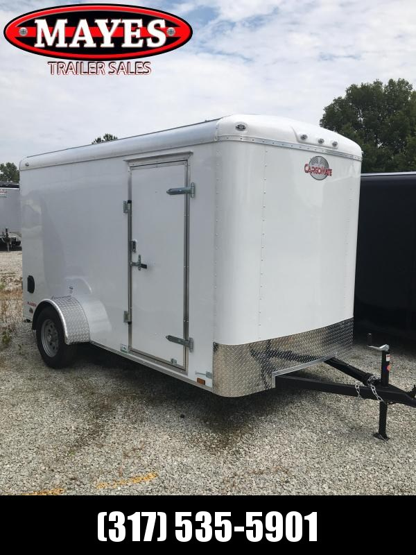 2021 Cargo Mate BL612SA Enclosed Cargo Trailer - 6x12 SA - Ramp Door - Side Door - 6 Inch Additional Height - Torsion Axle (GVW:  2990)