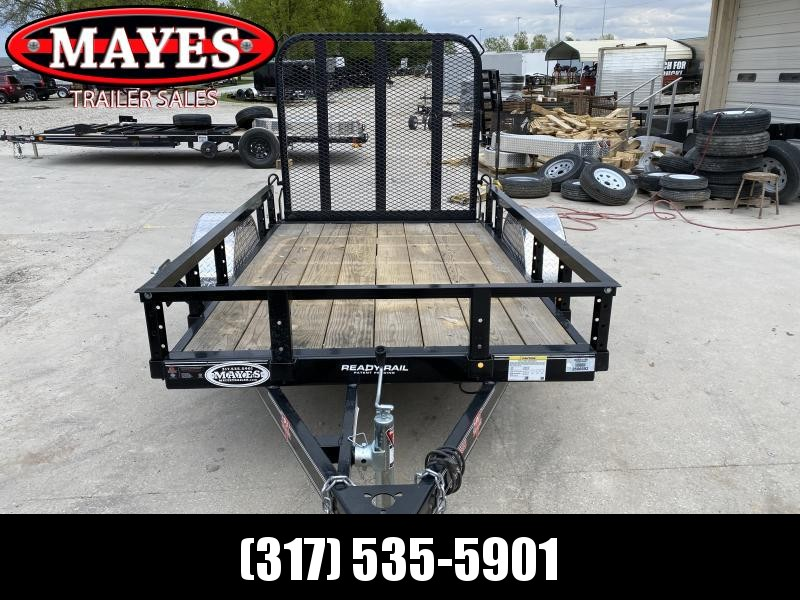 2020 PJ Trailers U6081 Utility Trailer 5x8 SAUT - Straight Deck - Fold In Gate - Spare Tire MOUNT ONLY (GVW:  2995)