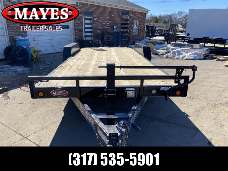 "2021 Load Trail XH8320072 Equipment Trailer - 83x20 (18+2) TA - 6 Inch Channel Frame - Fold Up Ramps (5'x16"") - D-Rings (GVW:  14000)"