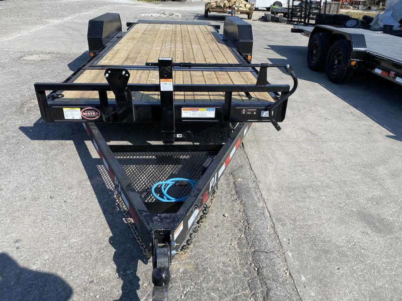 2021 PJ Trailers T6202 Equipment Trailer - 82x20 (4+16) TA Tilt - 16 Foot Tilt Deck - Torsion Axles (GVW:  14000)