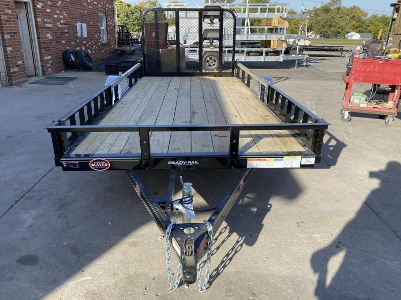 2021 PJ Trailers U7141 Utility Trailer - 77x14 SAUT - Straight Deck - Fold In Gate - ATV Ramps (GVW:  2995)