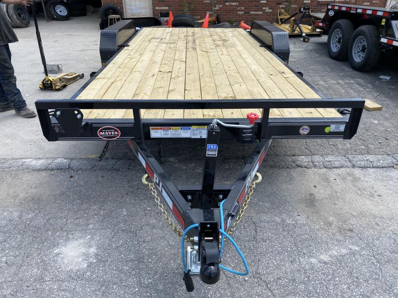"2021 PJ Trailers 18'x5"" Channel Equipment Trailer - CE182 - 83x18 (16+2) TA - Dovetail - Slide In Ramps (GVW:  9899)"