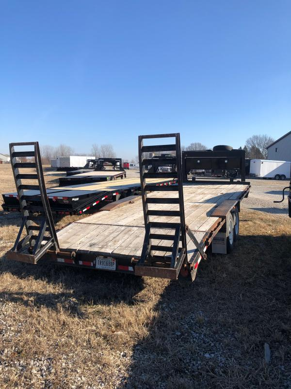 Used 2015 Rolls Rite Trailers 18KG23DE-DOF Equipment Trailer - 21 Foot (18+3) Gooseneck - Oak Floor - 17.5 Tires - Drive Over Fenders - Stand Up Ramps (GVW:  18000)
