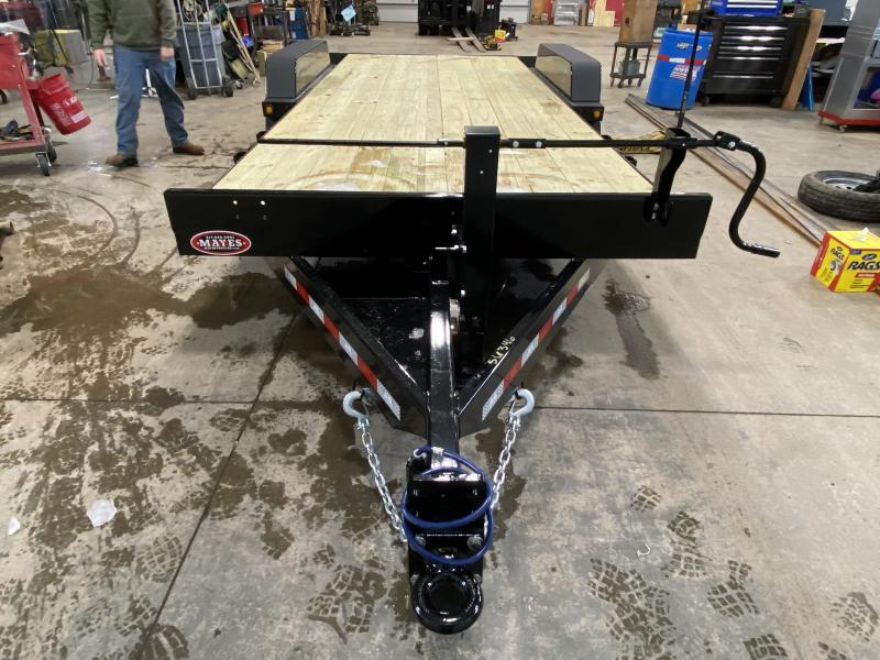 2021 B-B TBCT2014ET Equipment Trailer - 83x20 (4+16) TA Tilt - Torsion Axles - Pallet Fork Holders - Pintle Eye - D-Rings (GVW:  14000)