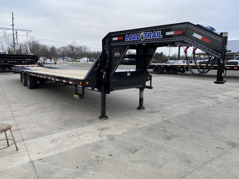 2021 Load Trail GL0236122 Equipment Trailer - 102x36 (26+10) TA Gooseneck - Hydraulic Dovetail with Cleats - Hydraulic Jacks - Mud Flaps - Tool Box - Winch Plate - Max Steps (GVW:  25900)